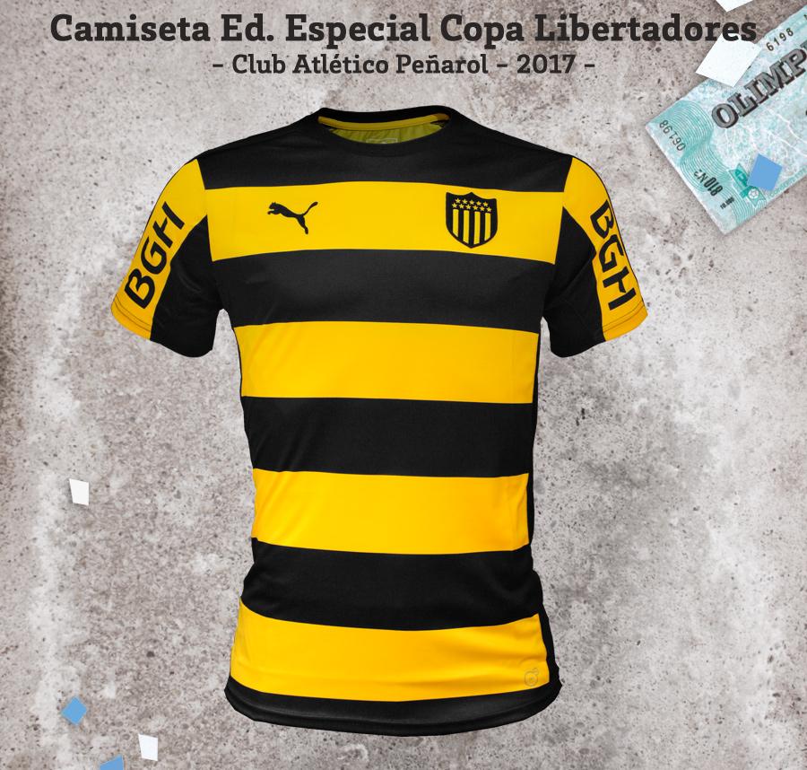 Camiseta Copa Libertadores Puma 2017 Club Atlético Peñarol