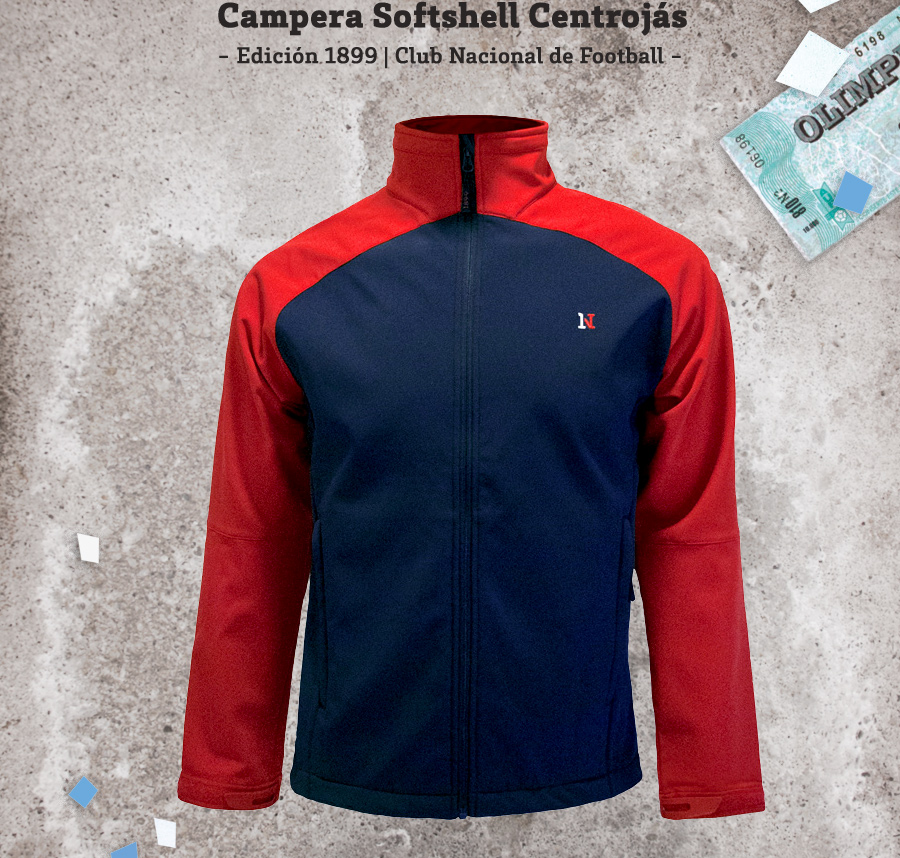 Campera Centrojas Club Nacional de Football Softshell