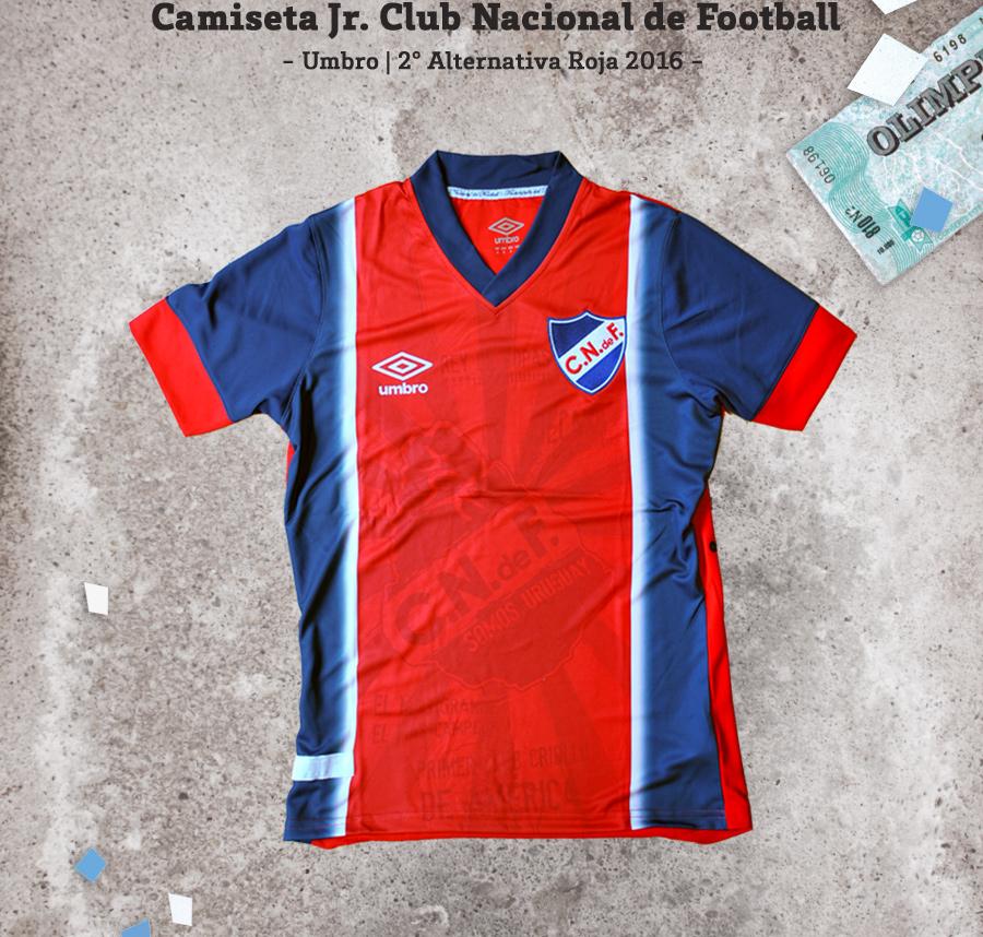Camiseta Roja Club Nacional de Football Umbro 2016